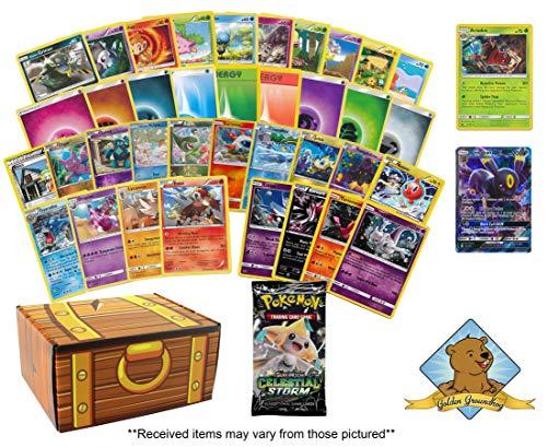 120 Pokemon Card Birthday Bundle! 90 Common and Uncommon Cards - 10 Energy - 10 Foils - 4 Promos - 1 Holo Rare - 4 Rares - 1 GX Rare! - Card Energy Uncommon