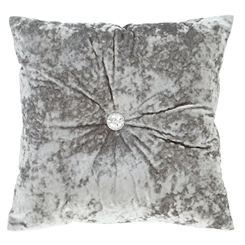 Catherine Lansfield Crushed Velvet Filled Cushion Silver, 45x45cm Turner Bianca DS/46254/W/CU45/SI