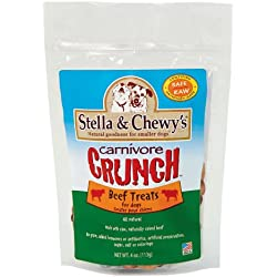 Stella & Chewy's Freeze Dried Dog Treats, Carnivore Crunch Beef Recipe, 4 Ounce Pouch