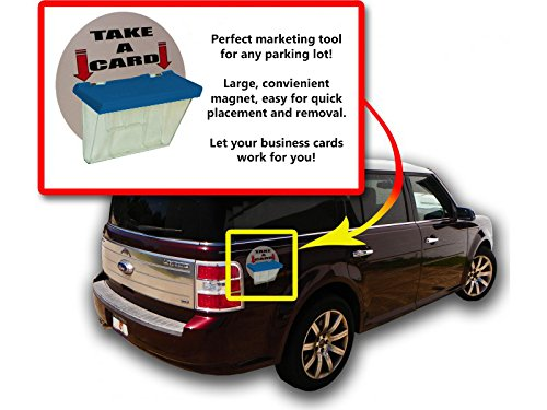 Marketing Holders Magnetic Outdoor Vehicle Business Card Holders (Blue Lid, 2) by Marketing Holders