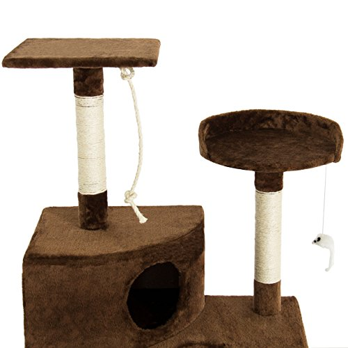 "Best Choice Products Pet Play House 47"" Cat Tree Scratcher Condo Furniture, Brown hot sale"