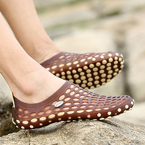 Shoes katliu Shoes Breathable Sandals Water Drying Aqua Womens on Beach Mens Beach Slip Quick Brown Summer 4rSIw4q