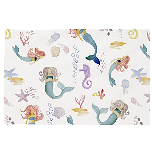 - Carousel Designs Watercolor Mermaids Toddler Bed Pillow Case
