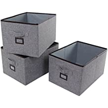 Lifewit Polyester Storage Bins with Label Holder Foldable Basket Storage Boxs Drawer Organizer for Office, Shelves, Clothes, Toys