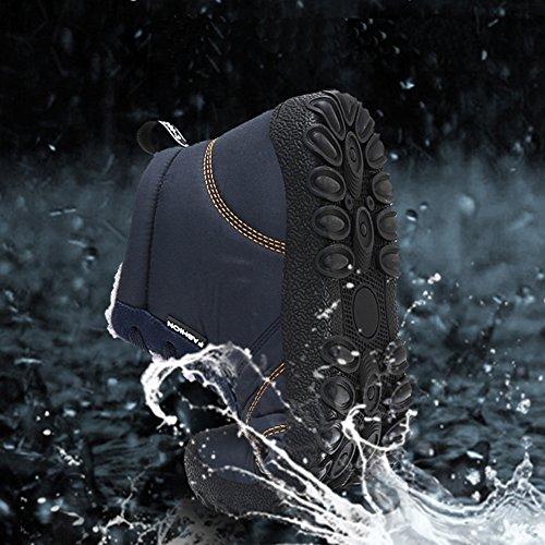 ... Eagsouni® Herren Damen Winterschuhe Warm Gefüttert Winter Schneestiefel  Wasserdicht Kurz Stiefel Outdoor Freizeit Schuhe Schnür ee19ec461e