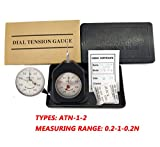 HFBTE ATN-1-2 Double Pointer Dial Tension Gauge with 0.2-1-0.2N Measurement Range Pocket Size Tensionmeter Tester