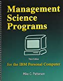 Management Science Programs for the IBM Personal Computer 9780757537585