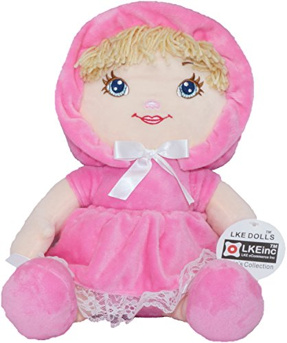 Darling Soft Rag Doll for babies, Mine to Love Baby Doll 15-inch, Pink