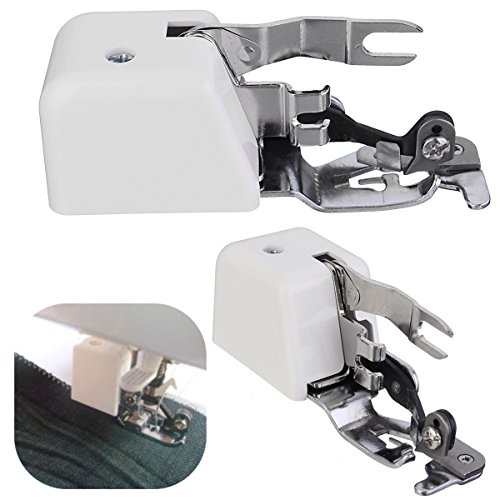 KINGSO 1Pcs Side Cutter Overlock Presser Foot Zig Zag Feet Sewing Machine Attachment for Brother Singer Babylock Janome Kenmore