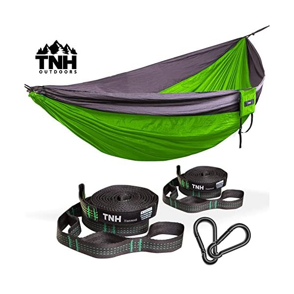 1-Premium-Camping-Hammock-Bonus-Straps-By-TNH-Outdoors-Premium-Quality-Hammock-Strong-9ft-Straps-With-30-Hitch-Points-A-Larger-Hammock