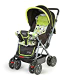 LuvLap Sunshine Stroller/Pram, with Mosquito net, for Newborn Baby/Kids, 0-3 Years (Light Green)