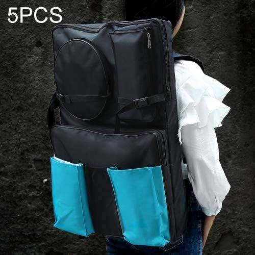 5ピース4 k黒防水ポータブルスケッチ絵画ボードバッグダブルポケット大容量旅行ショルダースケッチパッドデッサンバッグ
