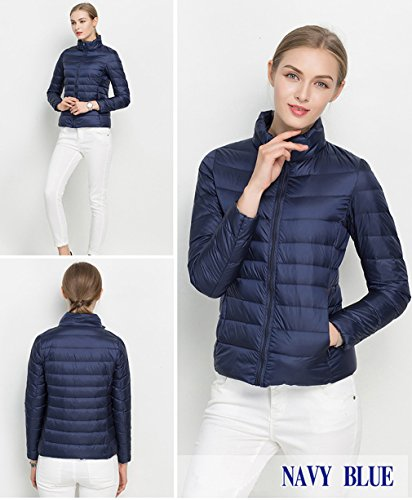 Stand Lighweight In Jacket Impilabile Women Fashion Santimon Disponibile 20 Navy Colori Down Blu Collar Cappuccio xIYpUqU