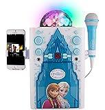 Sakar KO2-06027 Frozen Disco Ball Karaoke Machine, Blue and White