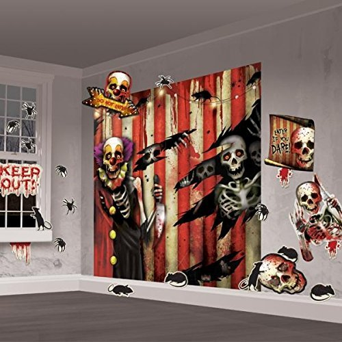 Partypackage Ltd Scene Setter Creepy Carnival Decorations Party Halloween ()
