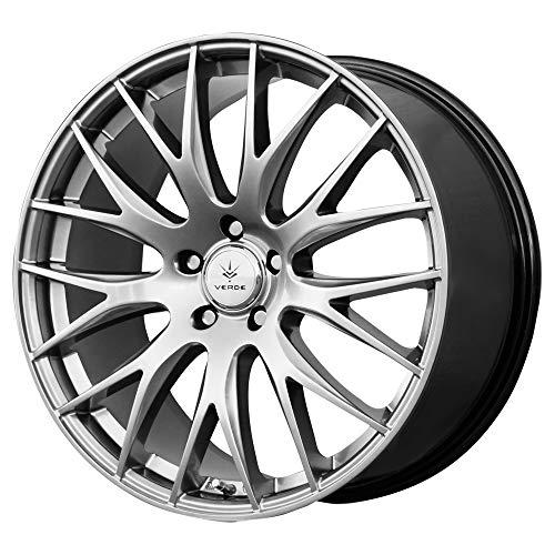 (Verde Custom Wheels Saga Hyper Silver Dark Wheel with Painted Finish (17 x 7.5 inches /5 x 4 mm, 40 mm Offset))