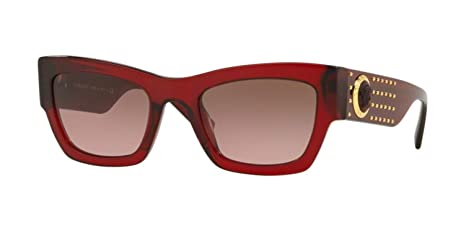 4efaf0d518 Amazon.com  Versace VE4358 Sunglasses 529714-52 - Transparent Red Frame