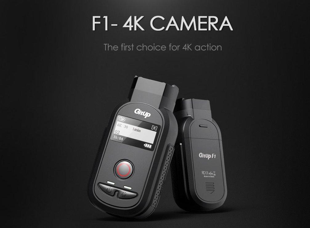 Camara-Gebürtigen GitUp F1 4 K, WLAN, Sony imx317 8 Megapixel, 1010 MHA, Kythira a12s75, Leuchtmittel Angulo Vision, offizielle Öffnung F2.8. Versand von Spanien mit 2 Jahren Garantie von GitUp Spanien.