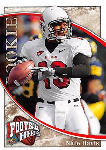 online retailer 53548 0a83e Nate Davis football card (Ball State Cardinals) 2009 Upper ...