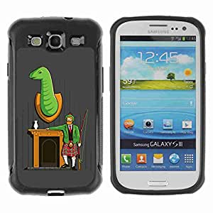A-type Arte & diseño Anti-Slip Shockproof TPU Fundas Cover Cubre Case para Samsung Galaxy S3 III / i9300 / i717 ( Funny Hunter Illustration )
