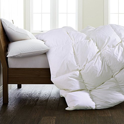 SHEONE All Seasons Lightweight White Goose Down Comforter-650 Fill Power-100% Cotton Shell Down Proof-Solid White Hypo-allergenic Duvet Insert With Tabs (King) by SHEONE (Image #1)