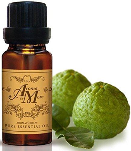 Kaffir Lime Peel Essential Oil 100% (Thailand) (Citrus hystrix D. C.) (Citrus Scent) 10 ml (1/3 Fl Oz) Premium Grade-Beauty Aroma & More