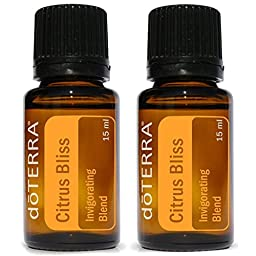 doTERRA Citrus Bliss Essential Oil Invigorating Blend 15 ml (2 pack)