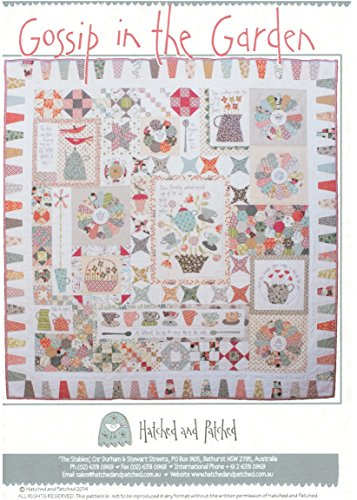 (Gossip in the Garden by Anni Downs of Hatched & Patched Quilt)
