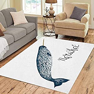 51lXB6P9voL._SS300_ Whale Area Rugs & Whale Runners