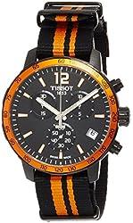 Tissot Quickster Nato Black Dial SS Textile Quartz Men's Watch T0954173705700