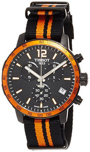 Tissot T0954173705700 Quickster Nato Black Dial SS Textile Quartz Men's Watch