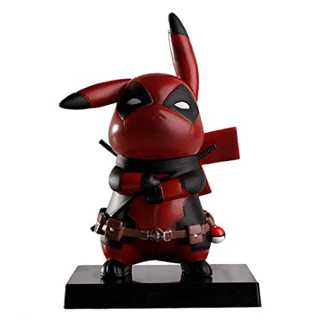 1c29fde8 Amazon.com: WYMDDYM Pikapool Pikachu Cosplay Deadpool Model Gifts, Anime  Action Figure Toys Gifts: Toys & Games