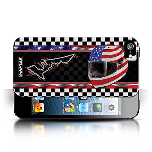 Etui / Coque pour Apple iPhone 5/5S / USA/Austin conception / Collection de F1 Piste Drapeau