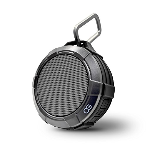 Omnigates Shower Speaker IPX5 Portable Bluetooth Speaker 4W 5-Hour Loud Sound Waterproof Wireless Speaker with Clip,Support SD Card,Hands Free Call,Suction Cup for Home, Pool, Beach, Boating [Black] (Best Portable Speakers For Backpacking)