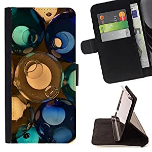 For HTC One M9 - svetilnik shary steklo cvet /Funda de piel cubierta de la carpeta Foilo con cierre magn???¡¯????tico/ - Super Marley Shop -