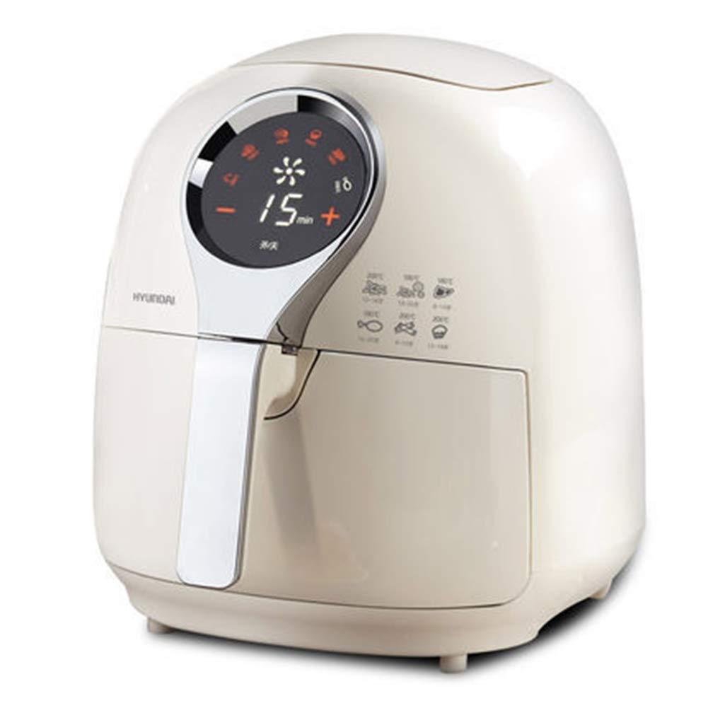 MISJIA Freidora de Aire/Accesorios sin Aceite hogar Inteligente LCD Pantalla táctil eléctrica freidora 6 en 1 para más de 6 Personas/Blanco: Amazon.es