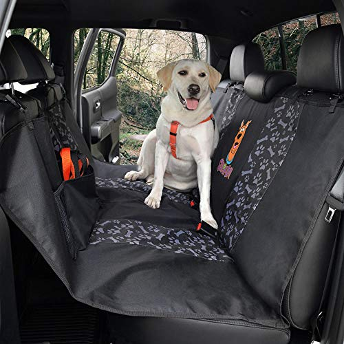 All Protect Scooby Doo Rear Bench Hammock Seat Cover for Pets Universal Fit for Car Sedan Truck SUV (Waterproof Easy Install Official WB Licensed)