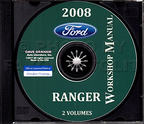 THE BEST FORD RANGER PICKUP TRUCK FACTORY REPAIR SHOP And MAINTENANCE MANUAL CD Includes Short Bed, Long Bed, Regular Cab, Extended Cab, Super Cab, FX4, FX4 Off-Road, Sport, STX, XL, and XLT