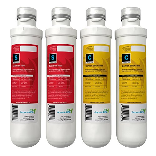 AQUATIC LIFE TWIST-IN ANNUAL REPLACEMENT PACK CARTRIDGES, 2 SEDIMENT + 2 (Aquatic Cartridge)
