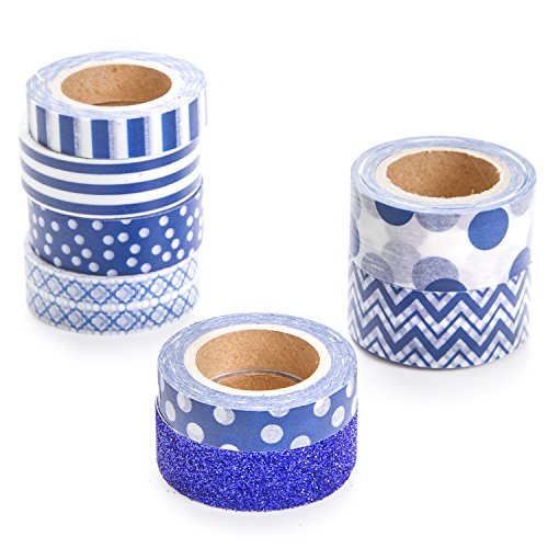 Darice Navy Blue Washi Tape Assortment for $<!--$6.70-->