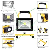 LTE LED Rechargeable Work Light 20W Portable Outdoor Flood Light Waterproof Camping Security Lights 6000K IP65 Daylight White