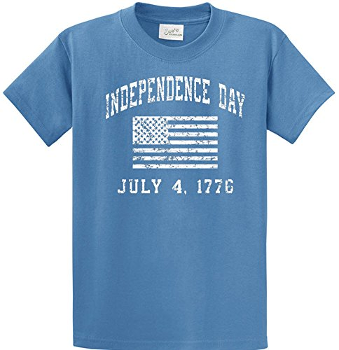 Flag Front Ash Grey T-shirt (Joe's USA TM - Independence Day 4th Of July USA Flag T-Shirts-M)