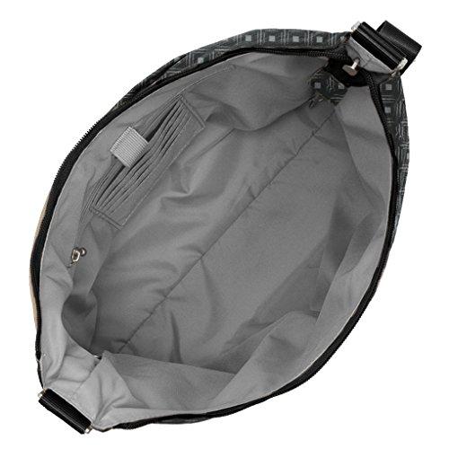Print complimentary with Crossbody Baggallini Handbag Bundle Travel wristlet Diamond RFID Black Hobo Earphones wallet wg0O8Tq60