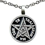 Pentagram Star Tetragrammaton Talisman for Divine Guidance Knowledge Pewter Pendant Charm