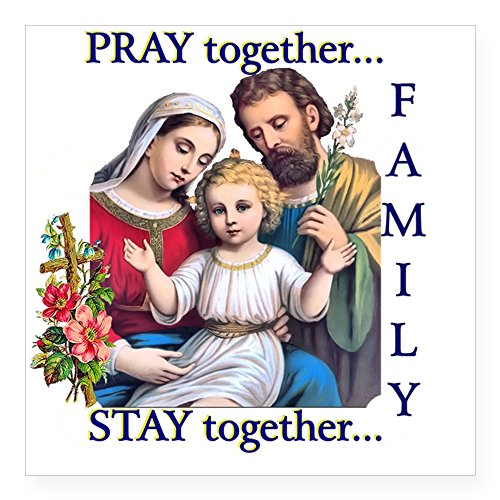 (CafePress Pray_Together_12X12-Clear Square Sticker 3