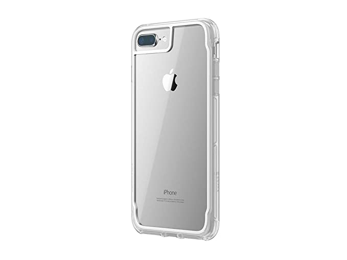 first rate dbc1b 4852d Griffin Survivor Clear Case for iPhone 8 Plus with Shock-Absorbing Bumper  and Non-Yellowing Back Shell - White Dust