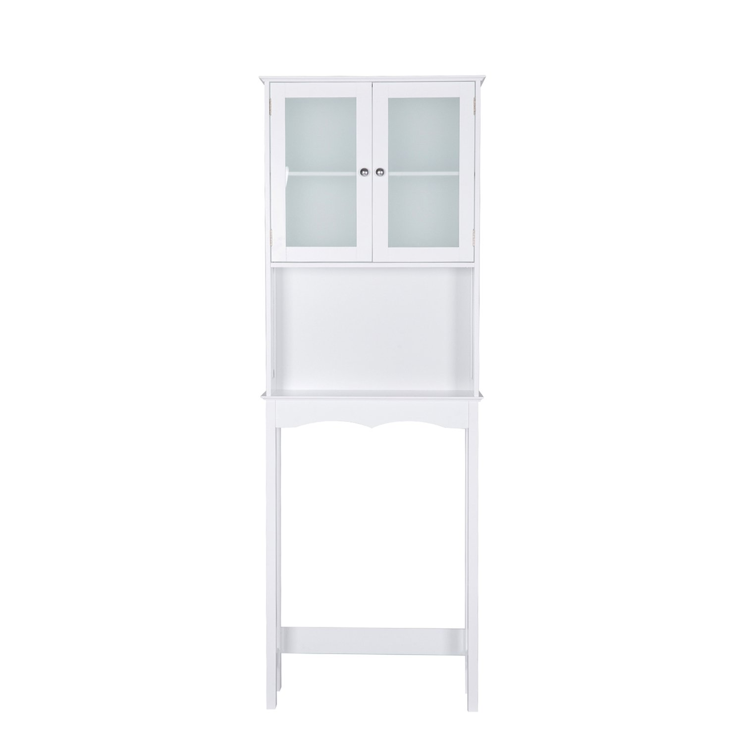 Peachtree Press Inc Home Bathroom Shelf Over The Toilet, Space Saver Cabinet,Bathroom Cabinet Organizer with Moru Tempered Glass Door, White by Peachtree Press Inc (Image #6)