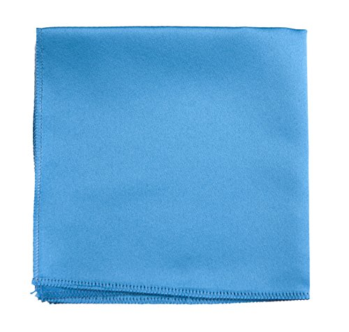 Pocket Square Hanky in Solid Colors Sized for Boys and Men By Tuxedo Park (Glacier Blue)