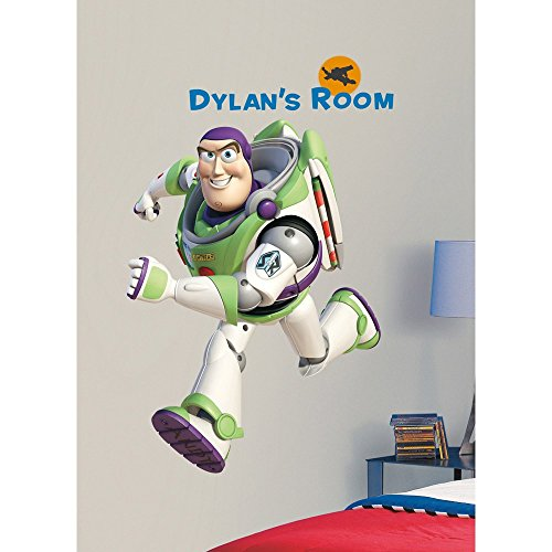 MN 109 Piece Kids Green White Purple Buzz Lightyear Wall Decals Set, Disney Themed Wall Stickers Peel Stick, Fun Space Toy Story Pixar Decorative Graphic Mural Art, Vinyl (Set Decal Pixar)