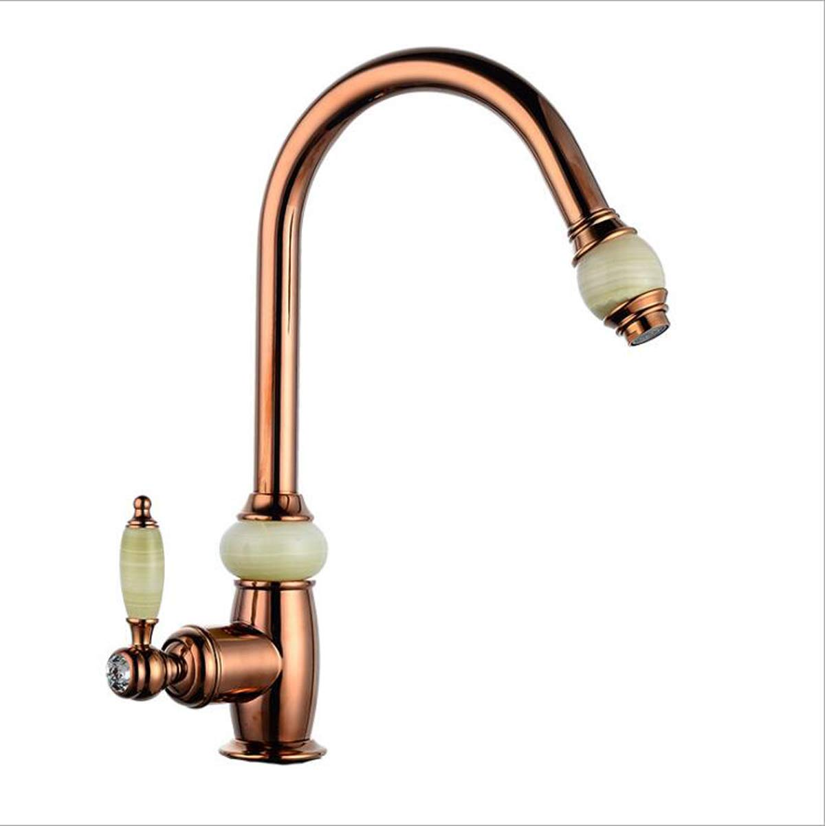 Rose Gold Kitchen Sink Faucet Pull Out Pull Down With Spray Mixer Tap Swivel Bathroom Faucet (gold)